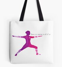 warrior inside Tote Bag