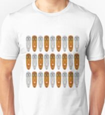 Abstract wooden ritual masks T-Shirt