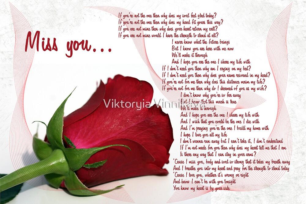 Miss you... by Viktoryia Vinnikava