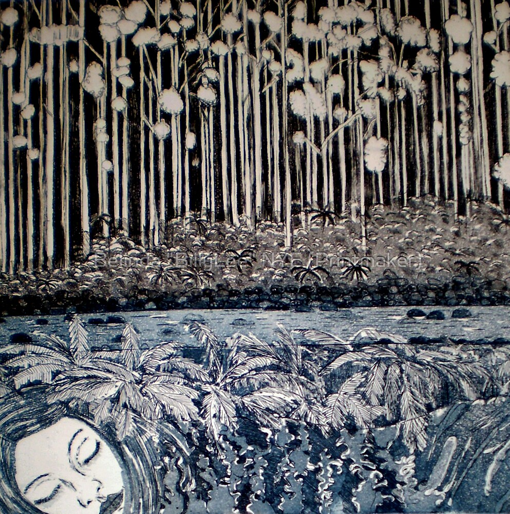 "Secret Forest Dreams-Aquatint Etching by Belinda ""BillyLee"" NYE (Printmaker)"