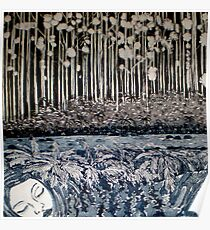 Secret Forest Dreams-Aquatint Etching Poster