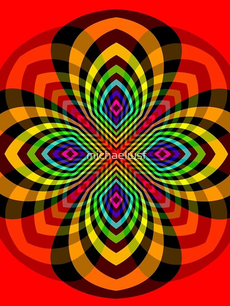Rainbow Star Flower by michaelwsf