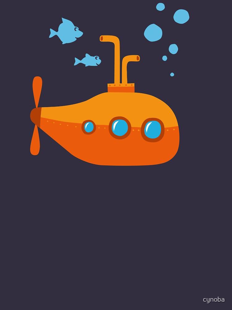 Orange submarine submarine by cynoba