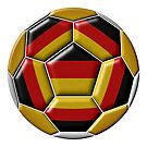 Soocer ball with Germany flag by siloto