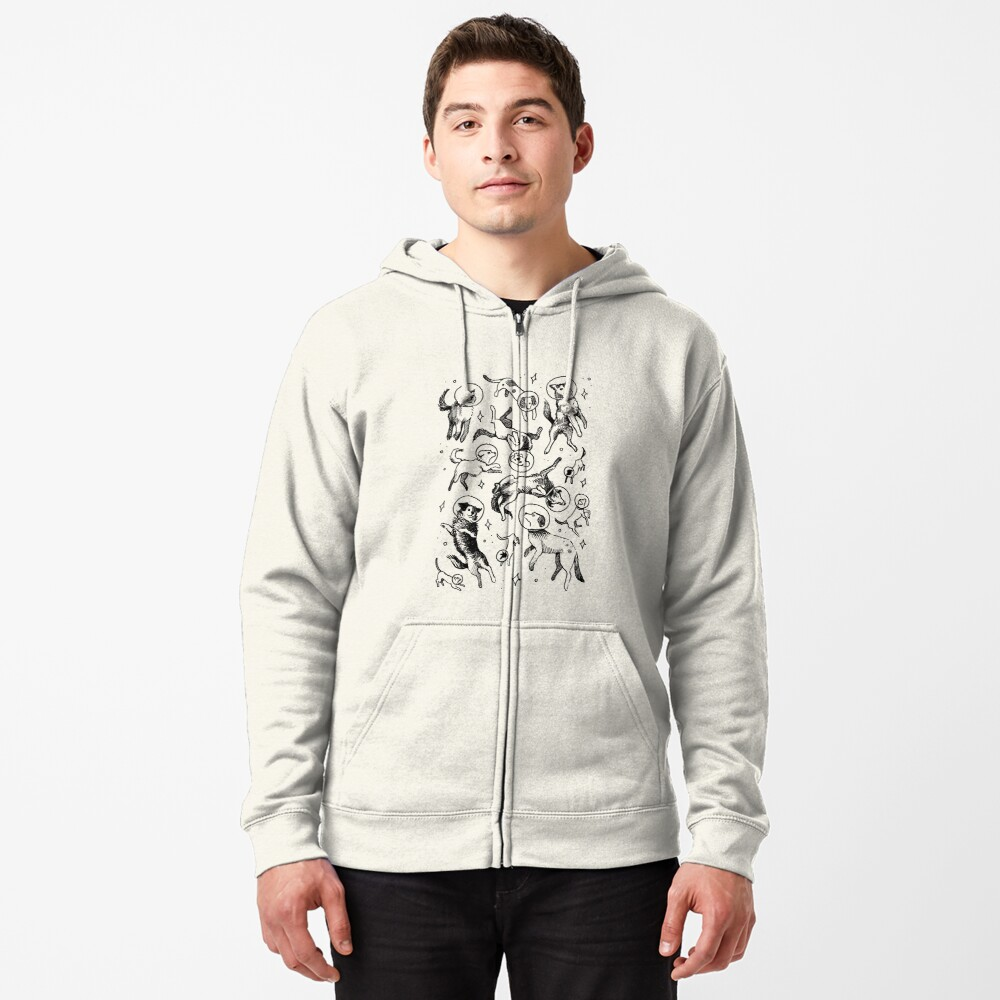 Space dogs Zipped Hoodie