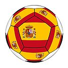Soccer ball with Spanish flag by siloto