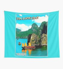 VIETNAM : Vintage HA LONG BAY Advertising Print Wall Tapestry