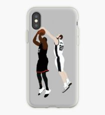 Manu Ginobili Block On James Harden iPhone Case