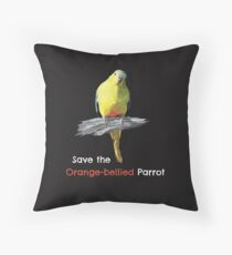 Save the Orange-bellied Parrot merchandise Throw Pillow