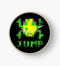 Frogger Jump Wall Clock - choice of frame colours