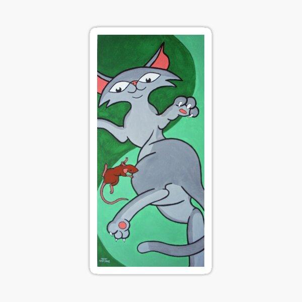Dangerous Career Cats: Mouse Catcher Sticker