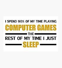 Computer Games Photographic Print