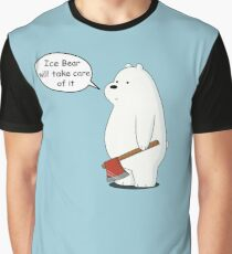Ice Bear Will Take Care of It - We Bare Bears Cartoon Graphic T-Shirt