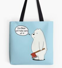 Ice Bear Will Take Care of It - We Bare Bears Cartoon Tote Bag