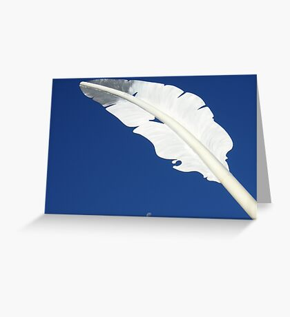 Feather Moon Greeting Card