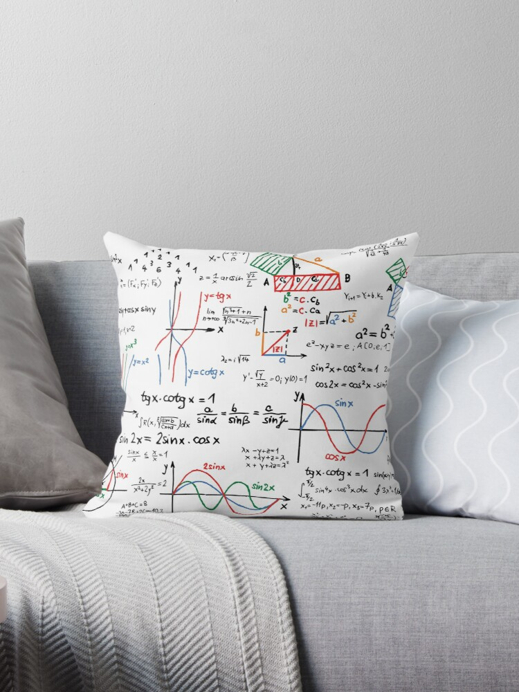 Throw Pillow With Numbers :