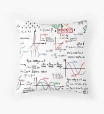 Mathematics Formulas Numbers  Throw Pillow