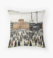LOWRY, Artist, Matchstick men, Laurence Stephen Lowry, Going to Work. Throw Pillow