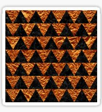 TRIANGLE2 BLACK MARBLE & COPPER FOIL Sticker