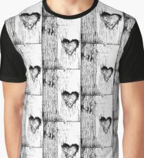 Black and White lovely heart , Graphic T-Shirt
