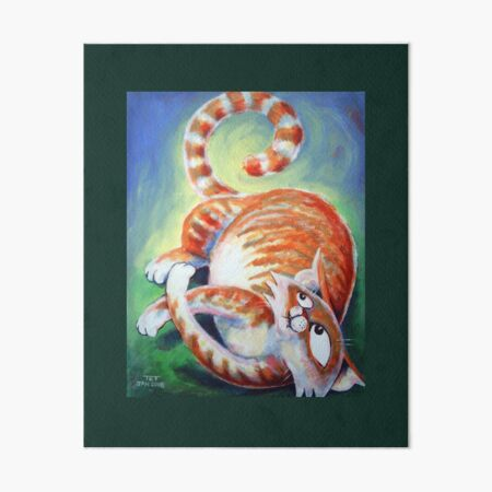 A Cat's Tail - Art by TET Art Board Print