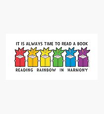 Reading Rainbow in Harmony Photographic Print