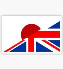 uk japan flag Sticker