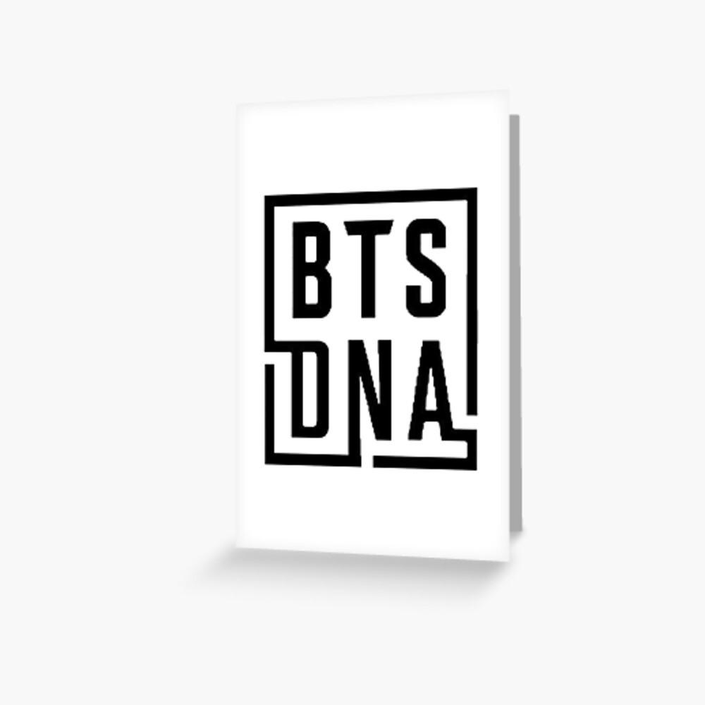 BTS LOVE YOURSELF DNA LOGO #2 Greeting Card