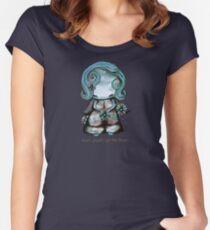 Even Angels Get the Blues in Blues (Sml Design) Women's Fitted Scoop T-Shirt