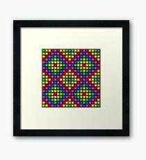 Rainbow Mosaic Framed Print