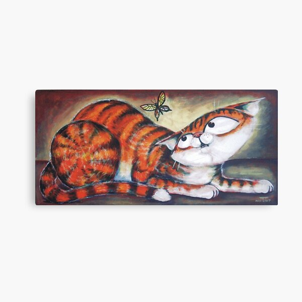 Ginger and the Butterfly - art by TET Canvas Print