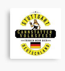 STUTTGART Cannstatter Volksfest Oktoberfest Deutschland Germany Trinken Mehr Bier Beer Canvas Print