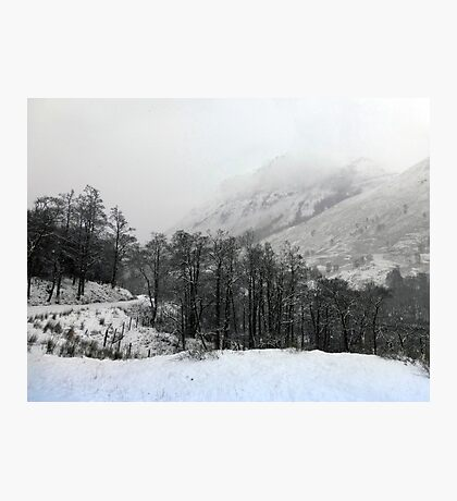 The Start of the Snow Photographic Print