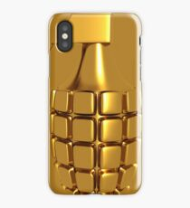 Golden Hand Grenade   iPhone Case