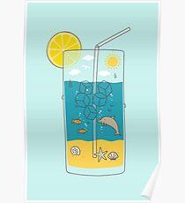 Sommergetränk Poster
