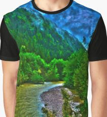 River near Schwendt in Tyrol Graphic T-Shirt