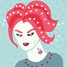 Portrait Of A Weird Girl With Pink Hair by Boriana Giormova