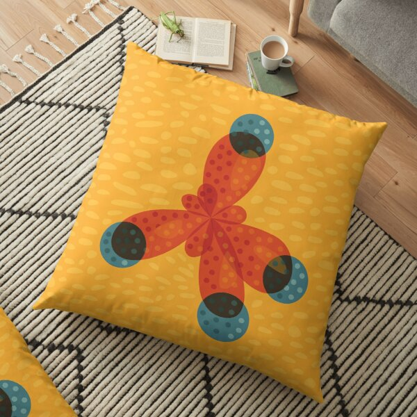 Just An Orange Methane Molecule Organic Chemistry Floor Pillow