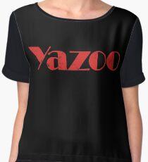 Yazoo distressed logo Women's Chiffon Top