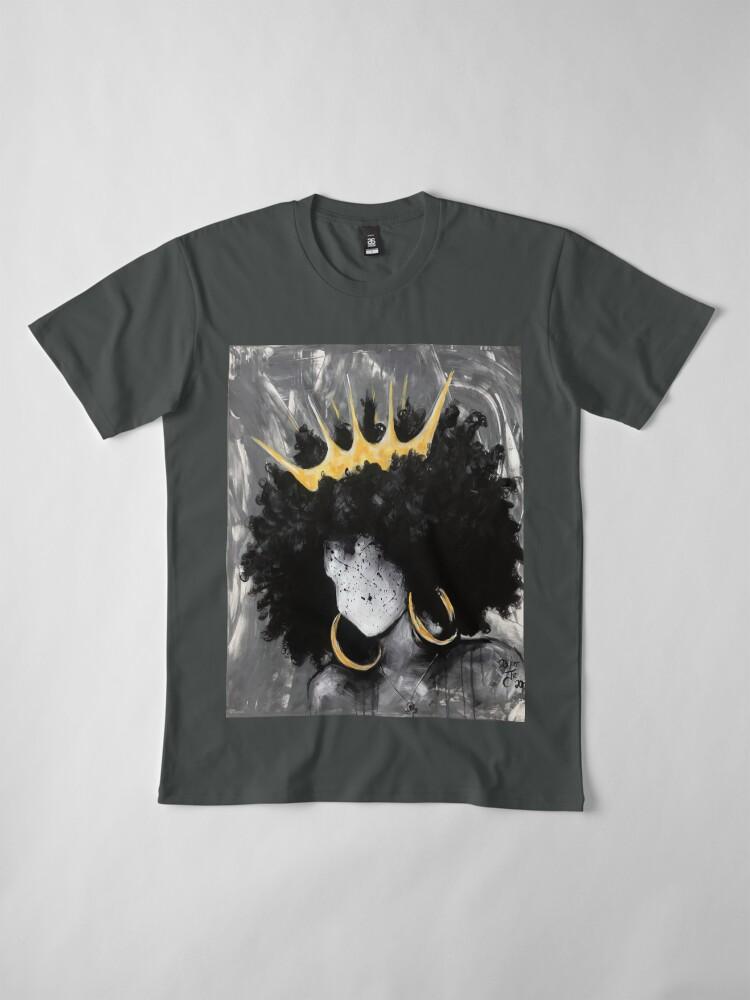 Alternate view of Naturally Queen III Premium T-Shirt