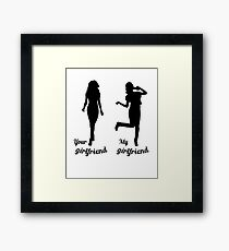 Funny girlfriend gifts My girlfriends Pizza Framed Print