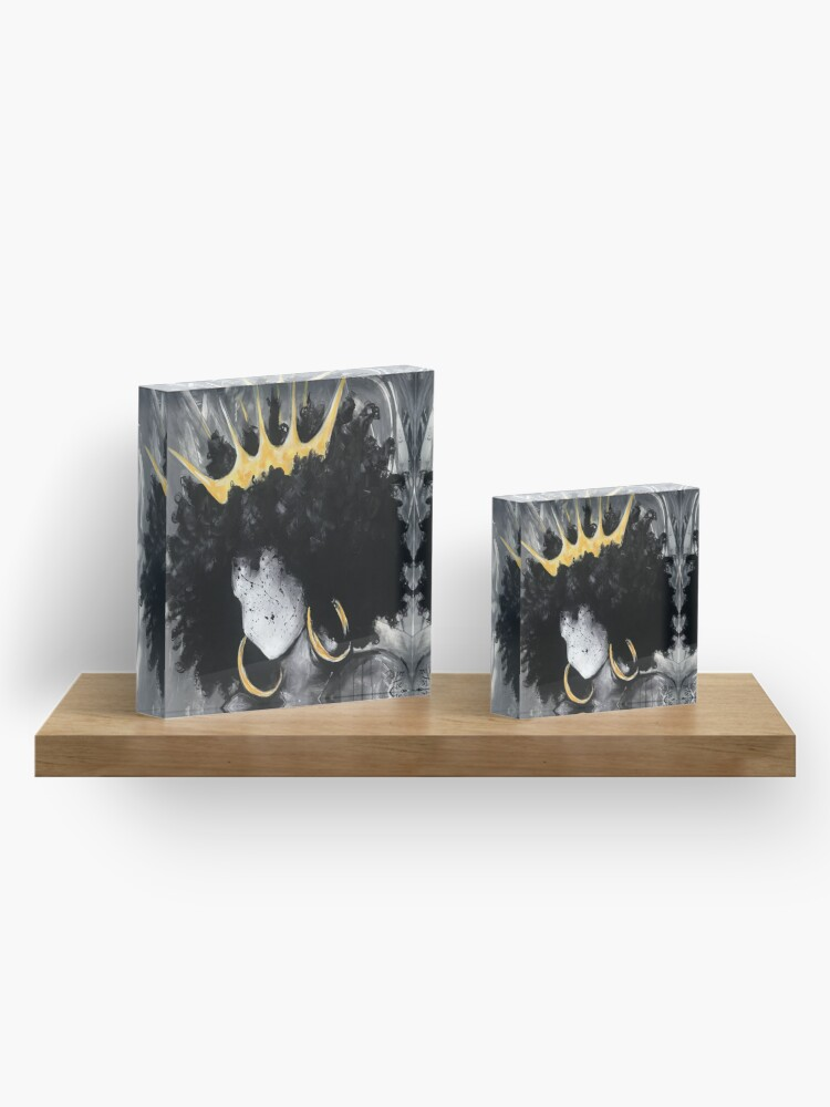 Alternate view of Naturally Queen III Acrylic Block