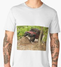 Off-road vehicle go around obstacles Men's Premium T-Shirt