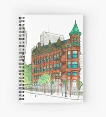 Flat Iron Watercolour Spiral Notebook