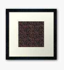 Copper Emboss Framed Print