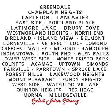 Neighbourhoods of Saint John by SaintJohnStrong