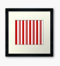 Dapper Dans - Red Framed Print