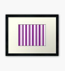 Dapper Dans - Purple Framed Print
