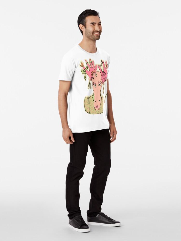 Alternative Ansicht von Elch Premium T-Shirt