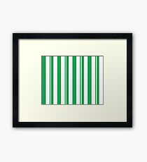 Dapper Dans - Green Framed Print